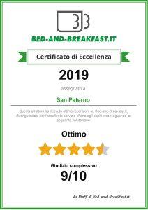 certificato eccellenza bed and breakfast